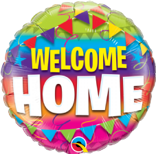 Welcome Home Foil Helium Balloon
